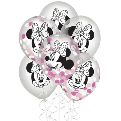 Minnie Mouse Forever Confetti Balloons, 6-pk