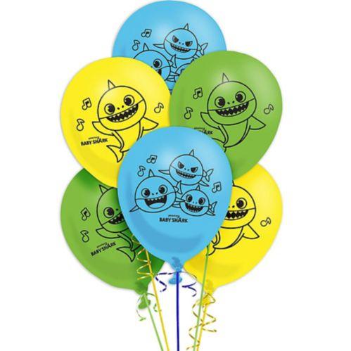 Baby Shark Latex Balloons, 6-ct