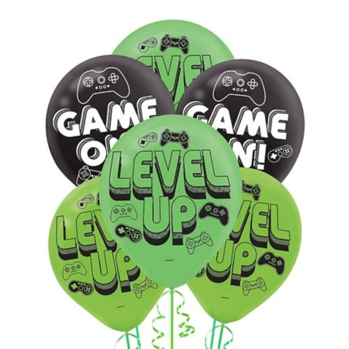 Level Up Latex Balloons, 6-ct