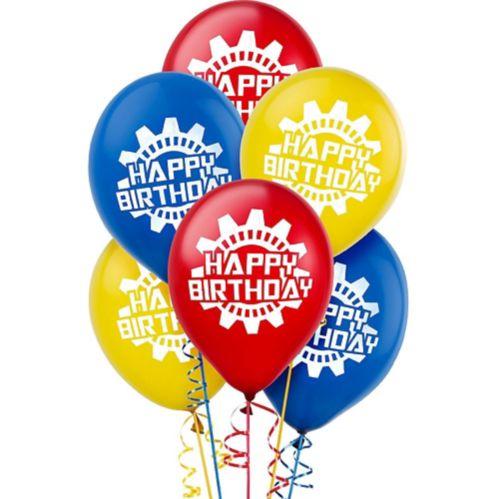 Machine Birthday Balloons, 6-pk