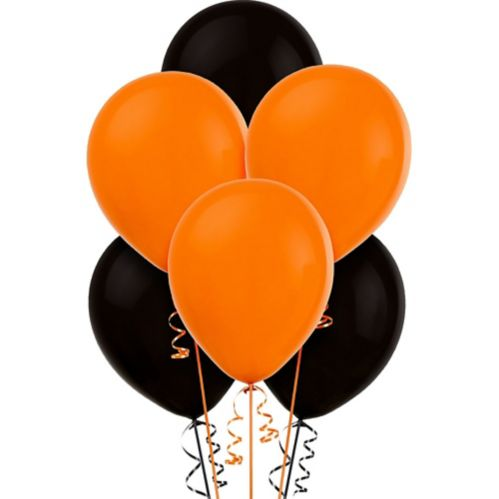 Ballons, noir et orange, paq. 15