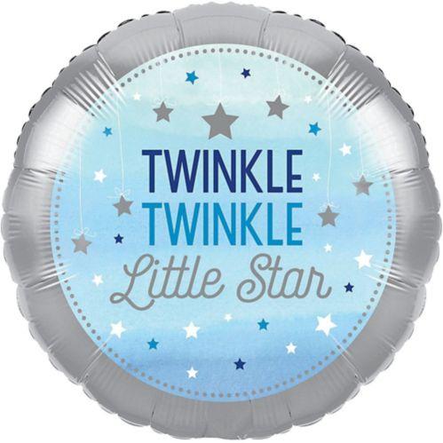 One Little Star Boy Mylar Balloon, 18-in