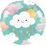 Happy Clouds Mylar Balloon, 18-in, 10-pk