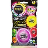 Illooms Light-Up Happy Birthday LED Balloons, 5-pk