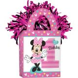 Minnie Mouse 1st Birthday Balloon Weight, Pink | Amscannull