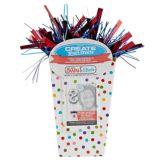 Create Your Own Rainbow Polka Dots Balloon Weight Centrepiece   Amscannull