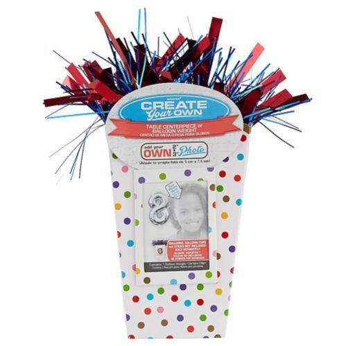 Create Your Own Rainbow Polka Dots Balloon Weight Centrepiece