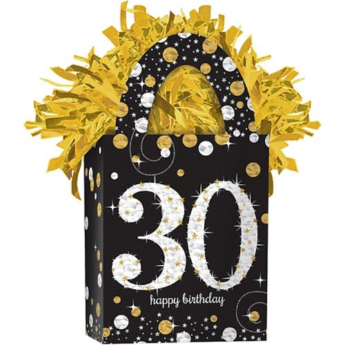 Sparkling Celebration Prismatic 30th Birthday Balloon Weight Product image
