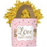 Poids pour ballon de mariage, rose scintillant | Amscannull