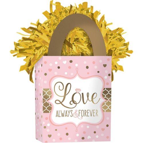 Poids pour ballon de mariage, rose scintillant Image de l'article