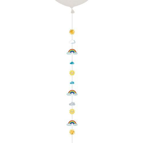 Queue de ballon Soleil, nuages et arc-en-ciel