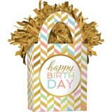 Balloon Weight, Pastel/Gold | Amscannull