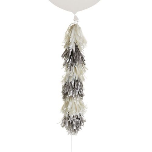 Tassel Balloon Weight Tail, Silver/White Product image