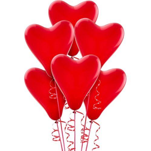 Red Heart Balloons, 6-pk