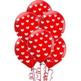 Ballons à imprimé de coeurs, paq. 6 | Amscannull
