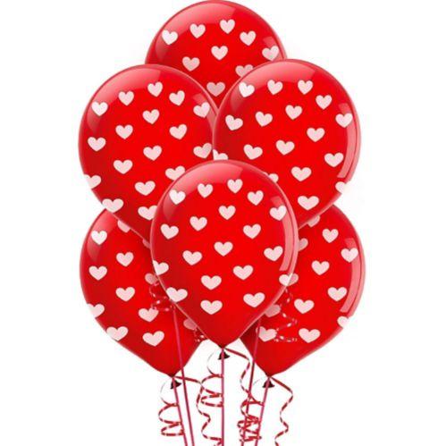 Ballons à imprimé de coeurs, paq. 6