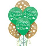 Ballons Saint-Patrick, vert et or, paq. 15 | Amscannull