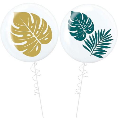 Key West Palm Leaf Balloons, 2-pk