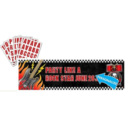 Rock On Personalized Banner Kit