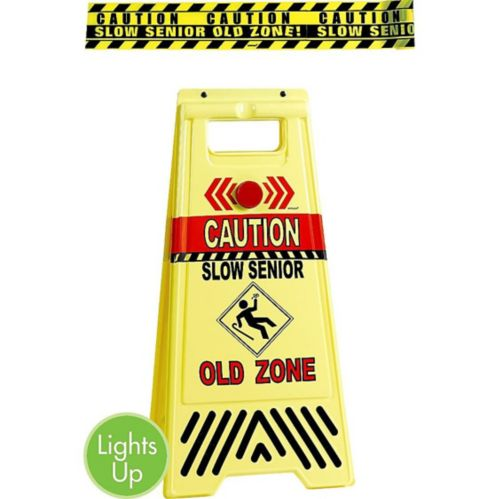 Old Zone Caution Floor Sign & Caution Tape