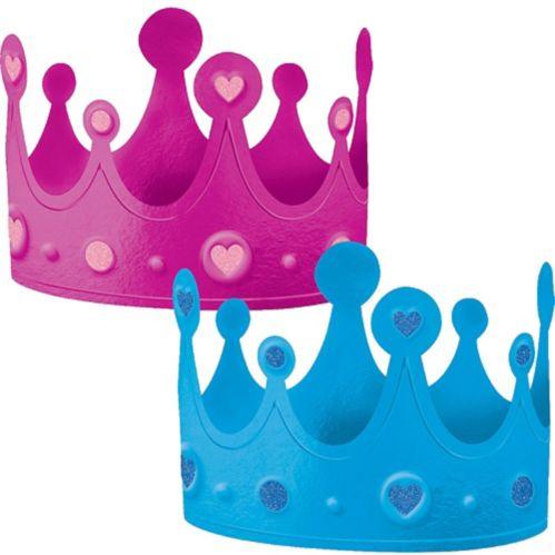 Girl or Boy Gender Reveal Crowns, 2-pc