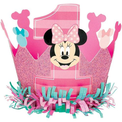Mini couronne 1er anniversaire Minnie Mouse