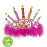 Light-Up Candle Happy Birthday Tiara