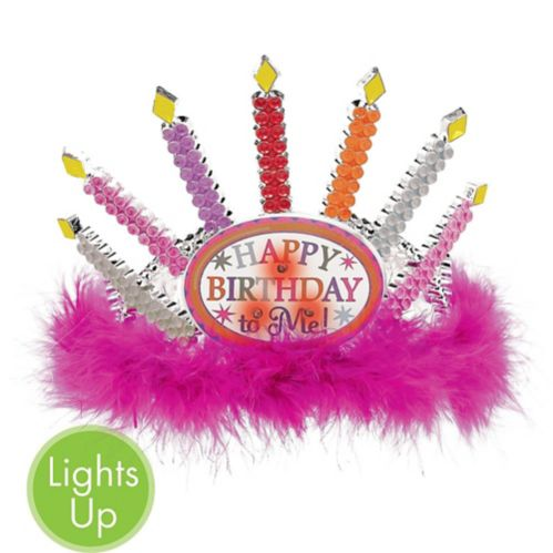 Light-Up Candle Happy Birthday Tiara Product image
