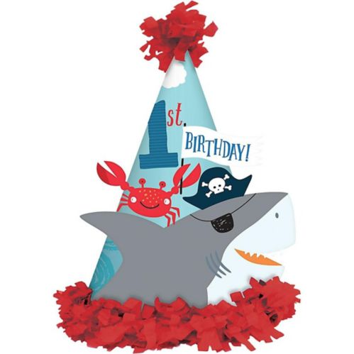 Pirate Shark 1st Birthday Party Hat