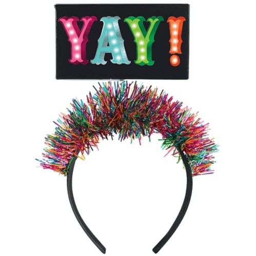Light-Up Tinsel Yay Head Bopper