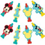 1st Birthday Mickey Mouse Blowouts, 8-pc