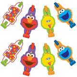 1st Birthday Elmo Blowouts, 8-pc