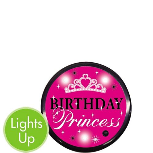 Light-Up Birthday Princess Button