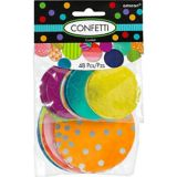 Giant Colourful Confetti Circles, 48-pc