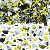 Black, Gold and Silver Sparkle Confetti