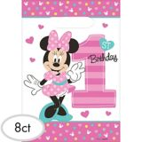 1st Birthday Minnie Mouse Favour Bags, 8-pc
