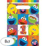 1st Birthday Elmo Favour Bags, 8-pc