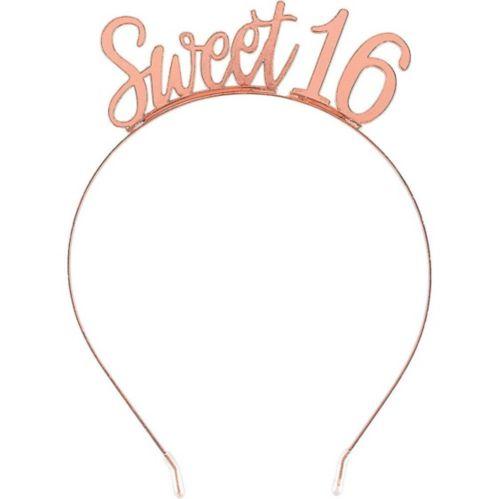 Rose Gold Sweet 16 Birthday Headband