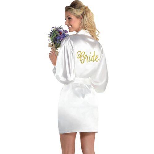 Bride Robe, Gold/White