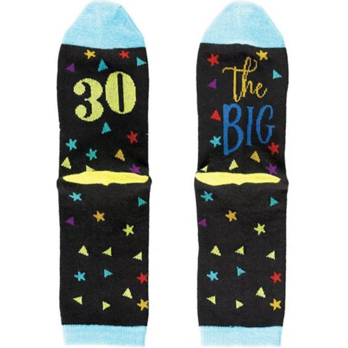Multicolour 30th Birthday Crew Socks