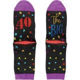 Multicolour 40th Birthday Crew Socks | Amscannull
