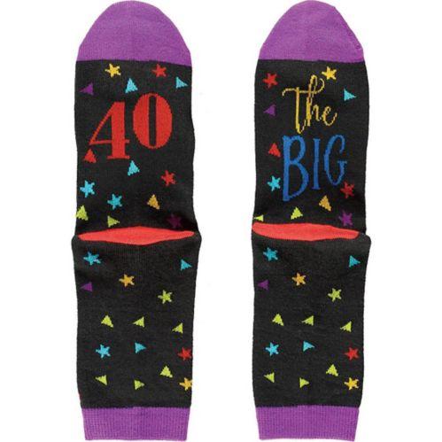 Multicolour 40th Birthday Crew Socks