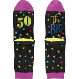 Multicolour 50th Birthday Crew Socks | Amscannull