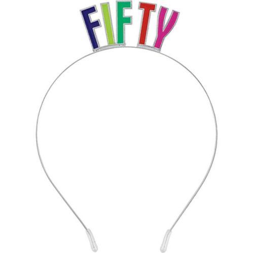 Multicolour 50th Birthday Headband