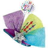 Clip-On Prismatic Multicolour 50th Birthday Fascinator Hat | Amscannull