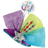 Clip-On Prismatic Multicolour 60th Birthday Fascinator Hat | Amscannull