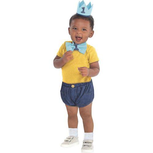 Blue 1st Birthday Accessory Kit