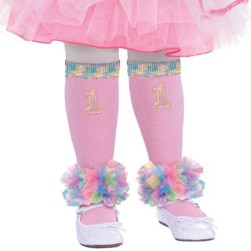 Pink 1st Birthday Leg Warmers