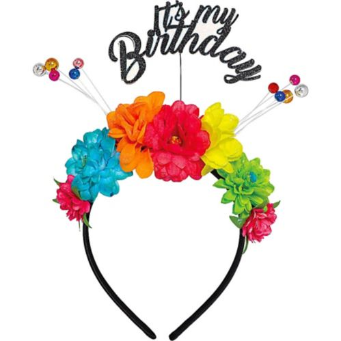 Multicolour Floral Birthday Headband