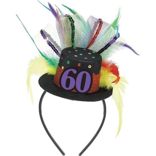 60th Birthday Mini Top Hat Headband
